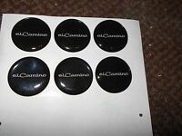 Chevrolet El Camino Elcamino Script Emblem Logo Seat Belt Rim Decals Stickers 6x