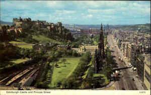 Postcard-EDINBURGH-Scotland-Schottland-1973-Castle-and-Princess-Street-view-AK