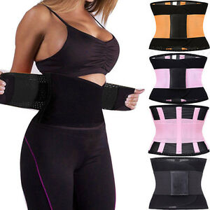14a23d54ffd Image is loading Gym-Sport-Waist-Trainer-Cincher-Tummy-Girdle-Belt-