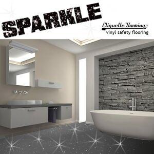 Image Is Loading GREY SPARKLE SAFETY FLOORING BATHROOM FLOOR VINYL LINO
