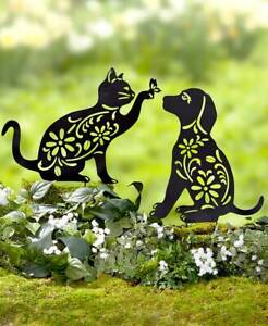 Animal-Silhouette-Garden-Yard-Stake-Outdoor-Lawn-Decor-in-CAT-DOG-FROG-or-BUNNY
