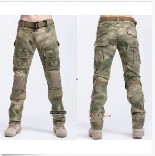 Vogue Mens Knee Pad Military Camouflage Combat Motocycle Pants Trousers Casual