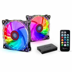 Rosewill-120mm-RGB-Silent-Case-Fan-2-Fans-with-Remote-Control-amp-Hub-RGBF-17002