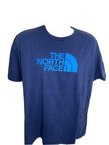 The-North-Face-Big-Logo-T-Shirt-Men-s-Size-XL-Blue
