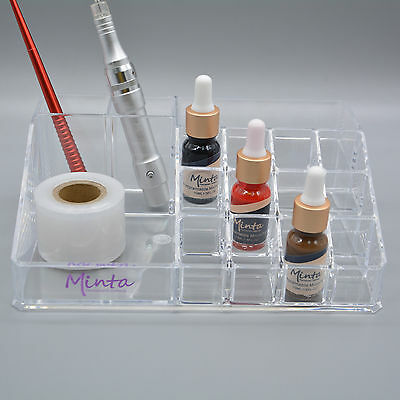 Tattoo Permanent Makeup Ink Nail Polish Display Stand Holder Rack Acrylic Clear