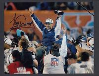 Tony Dungy Autograph 8x10 Photo Super Bowl XLI Colts Victory Steiner COA