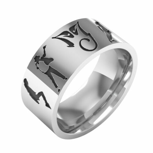 Michael Jackson king of Pop Stainless steel ring Choice of size