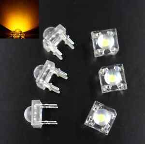 200pcs F5 5mm YELLOW Round Superbright LED Light LED lamp NEW