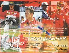 MICHAEL SCHUMACHER FORMULA 1 CHAMPION FERRARI DRIVER 2002 MNH STAMP SHEETLET