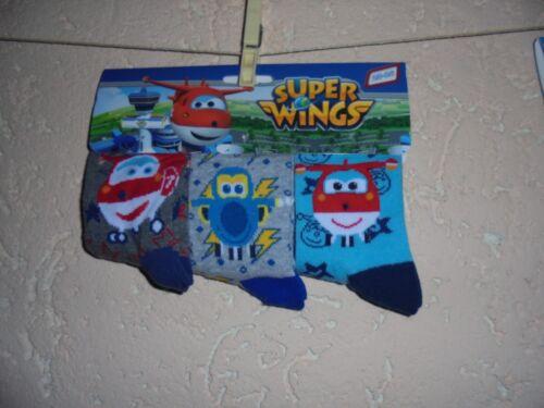 Paire Super Wings Enfants Chaussettes Bas Tailles 23-26 à 31-34 neu/&ovp 3er Set