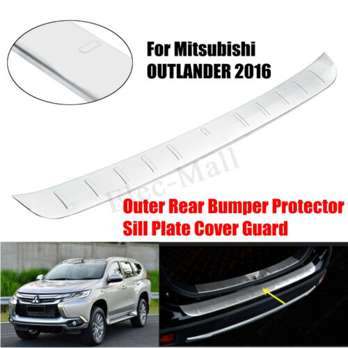 Outer Rear Bumper Protector Sill Plate Cover Guard For Mitsubishi OUTLANDER 2016