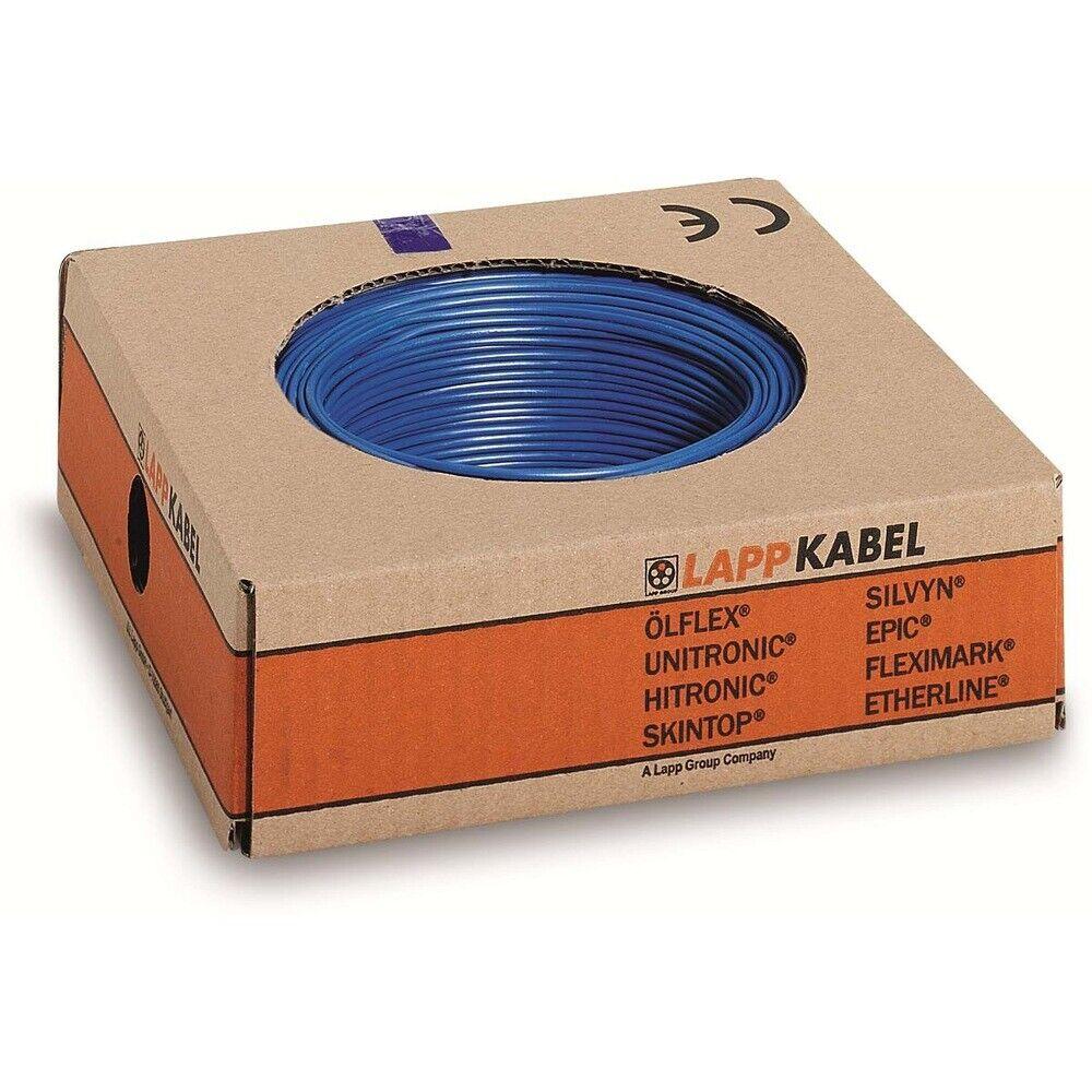 Lapp Kabel Litze H07V-K 4,0mm² blau 100 Meter Ring