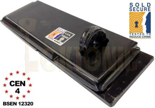 Federal FD4025 Sold Secure Silver CEN 4 Heavy Duty Shed Garage Gate Steel Hasp