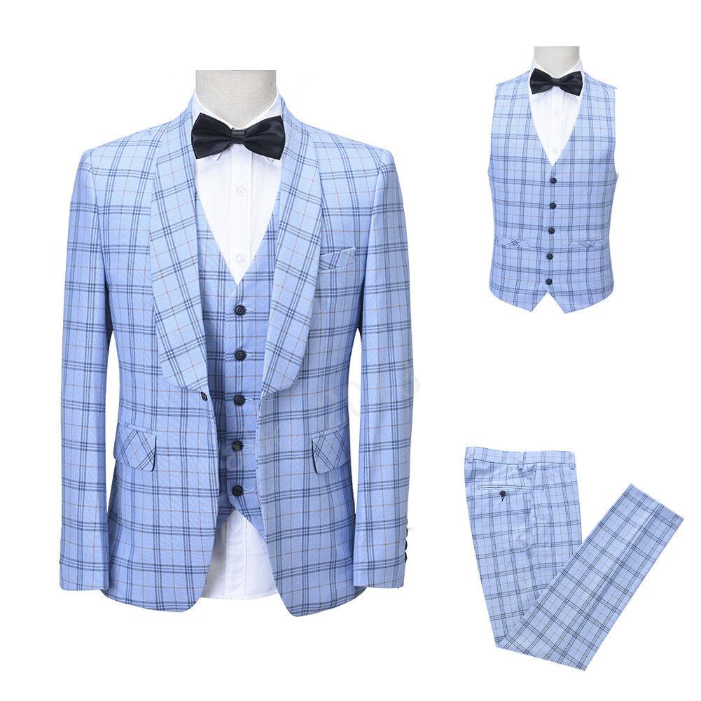 Mode Blau Gestreift Herren Anzüge Besondere Smoking Herren Anzüge Hochzeitsanzug