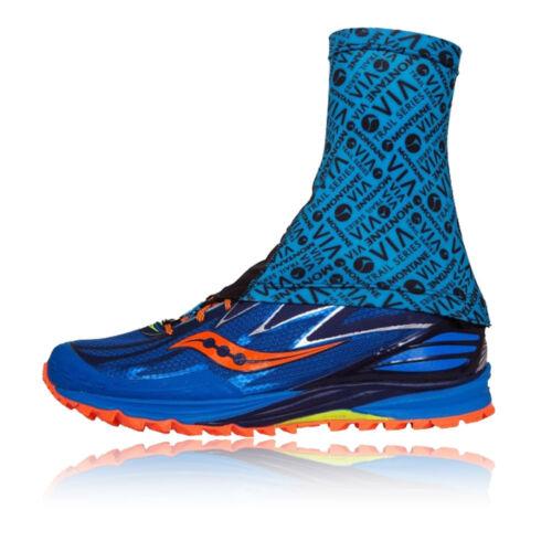 Montane Unisexe Running Training via Sock It Gaiter Blue