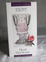 In Box Toscany St George Heart Hurricane Candle Holder 24% Lead Crystal