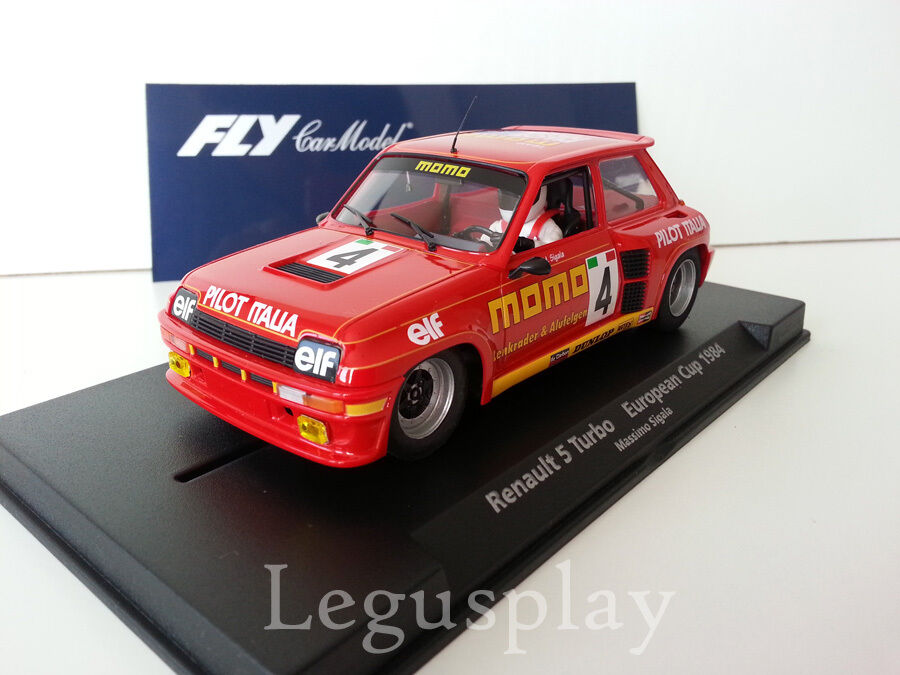 Slot car SCX Scalextric Fly 88188 Renaul 5 Turbo European Cup'84 M.Sigala A-1205