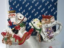 1992  Fitz & Floyd Creamer & Sugar Bowl Nutcracker & Rat King   Christmas MIB