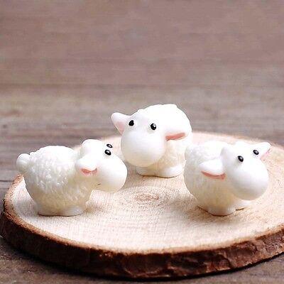 5Pcs Mini Sheep Figurines Miniatures Home Decor DIY Animals Micro Fairy Garden