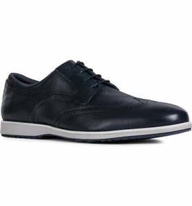 Geox Men's Blainey Navy Tumbled Leather