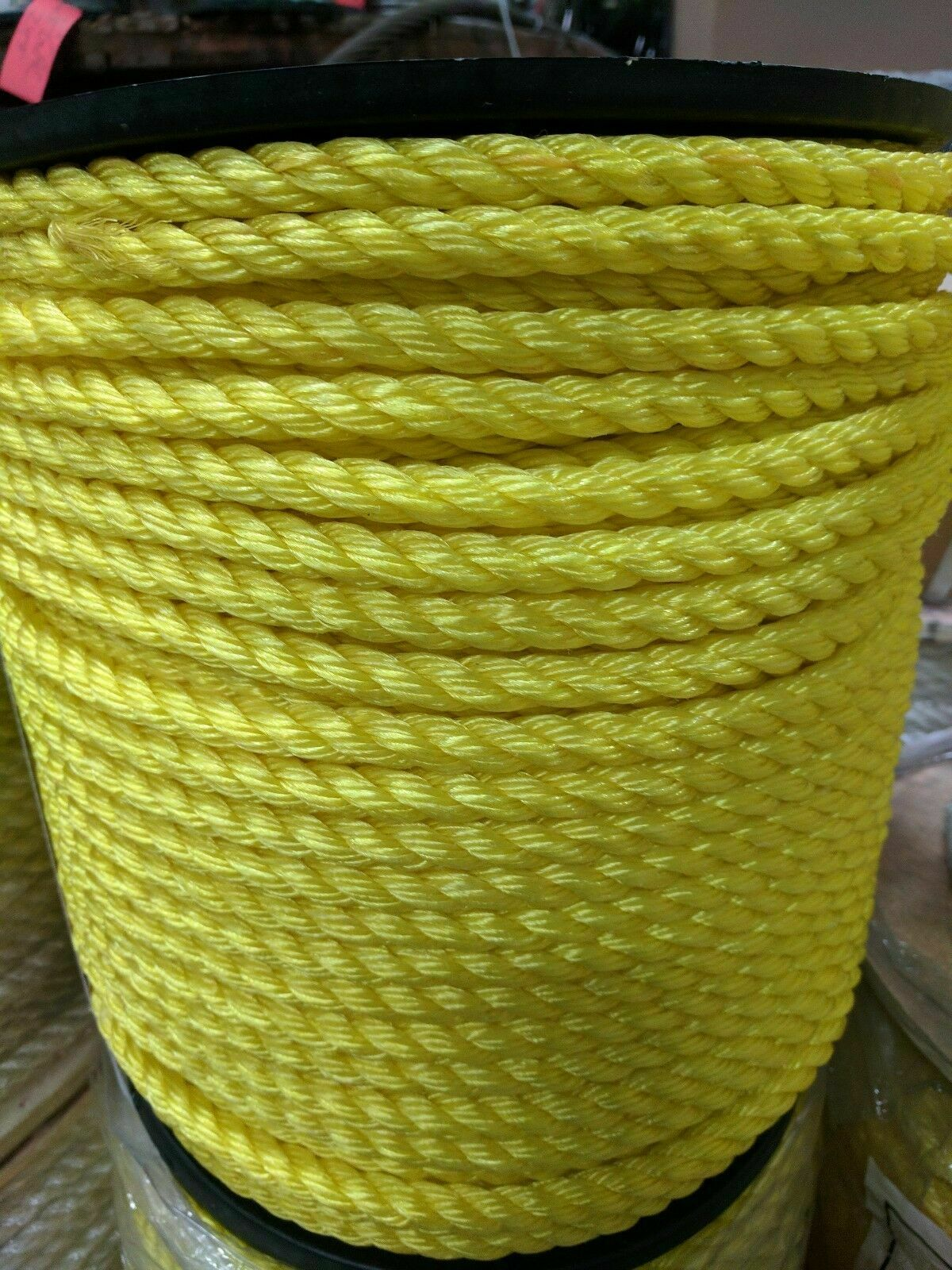3 4  3-Strand Twisted Poly Pro Polypropylene Rope Yellow (600 Feet)