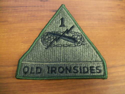 """3 3//4/"""" X 4/"""" APPROX US ARMY 1ST ARMORED DIVISION OLD IRONSIDES PATCH NEW"""