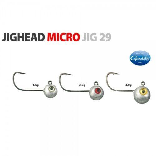 4 1,5g 4935400015 Ultra Light UL Spro Gamakatsu Micro Jighead Jig29 Haken Gr