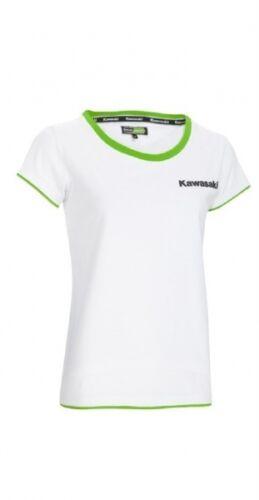 nuevo! Kawasaki Sport t-shirt señora manga corta blanca camisa Women White short 14/'