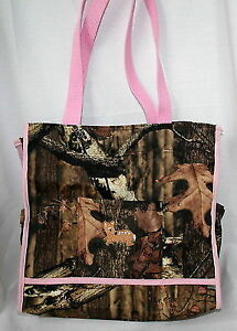Mossy Oak Camo Camouflage Diaper Bag Or Tote W Pink