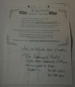 DAWSON-039-S-CREEK-set-used-paperwork-INVITATION-TO-2003-TRIBUTE-PARTY