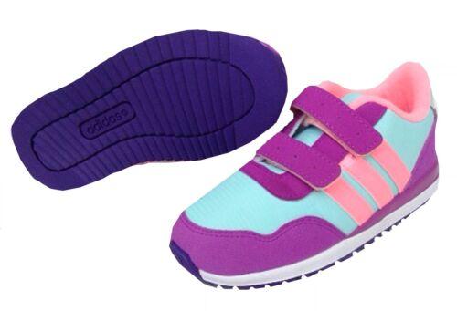Adidas Infants V jogger Comfort trainers F76484 Purple//pink UK 5-9.5k
