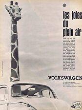 Publicité Advertising 056 1961 Volkswagen Coccinnelle