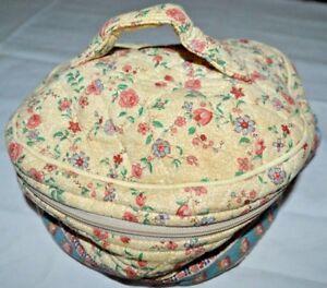 3a9aa88a79 Vera Bradley Travel Cosmetic Bag Makeup Pouch Case Rare Tea Garden ...