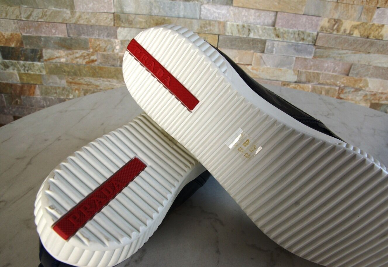 PRADA Gr 38,5 Slipper Mokassins royal Slip-On Schuhe schuhe 3S5952 royal Mokassins blau eb0841