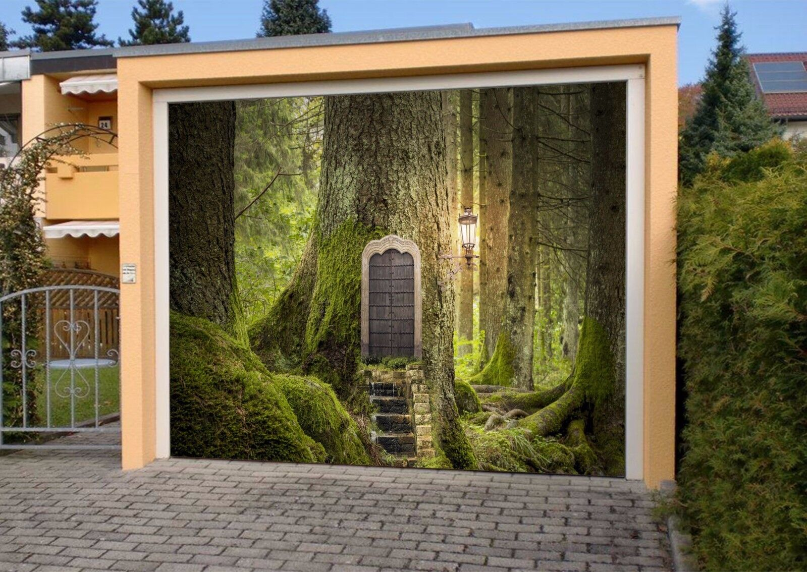 3D Tree House 733 Garage Door Murals Wall Print Decal Wall AJ WALLPAPER AU Carly