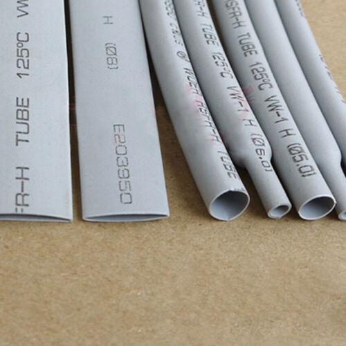 50mm PE 2:1 Schrumpfschläuche für Kabel Isolierung Reparatur Grau Hülle Ø 1mm