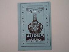 advertising Pubblicità 1951 LIQUORE AURUM - PESCARA