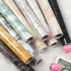 0-6-3M-Selbstklebend-Marmor-Textur-Tapete-Wand-Sticker-Roll-Wasserdicht-Dekor