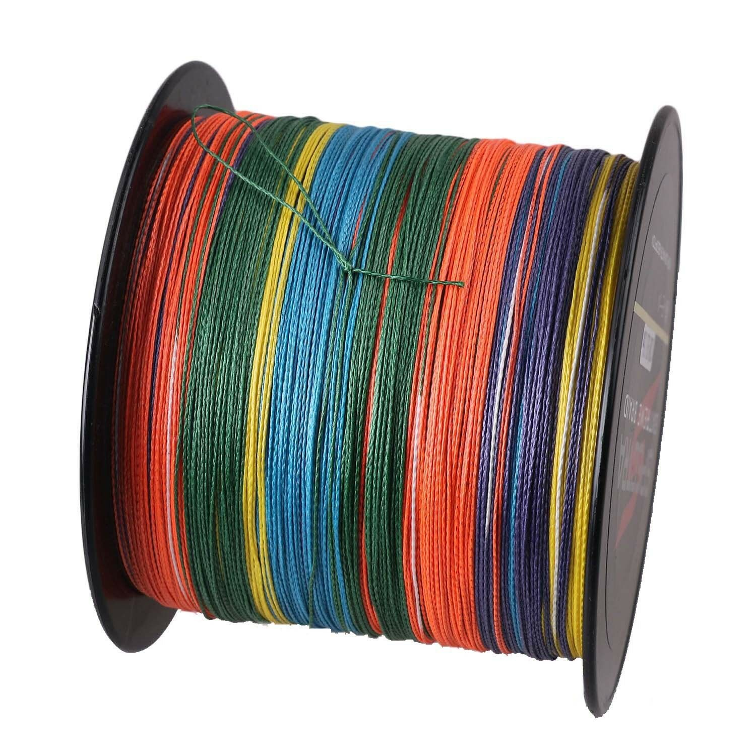 100m-1000m 6LB300LB Multi-color PE Dyneema Línea Pesca trenzados Strong Braid