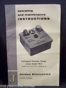 Manual For Industrial Electronic CDV 750 #5b Charger CDV 742 Dosimeter Radiation