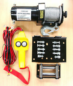 Electric-12V-2000LB-Cable-Winch-Kit