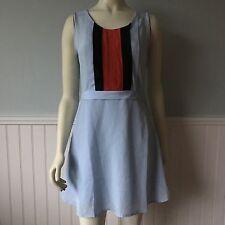 Women's Stitch Fix Under Skies Blue Sleeveless Dress Pleated bodice Size Small