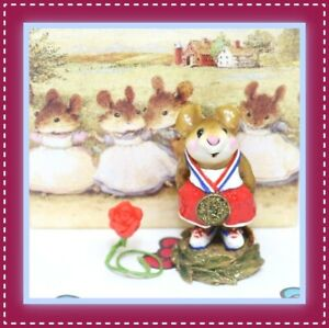 Wee-Forest-Folk-Victor-MS-18-1996-Red-Gold-Medal-RETIRED-Olympic-Mouse