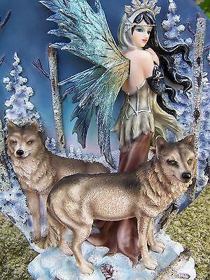 Dinamico 15331 Grande Statuette Figurine Loup Fee Fairy Elfe Heroic Fantasy Gm