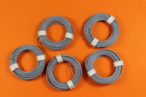 0,5mm; starr; 5x10 m Ring; grau; NEU 1m=0,139€ Kupferschaltdraht; 1-adrig