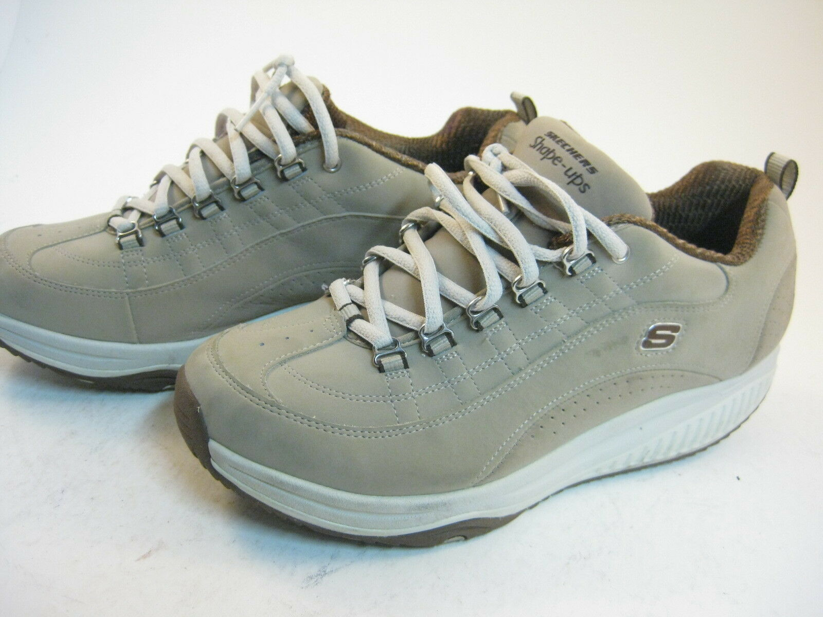 EUC Skechers Shape Ups Shoes Stone Brown Women's Size 9 Excellent Condition