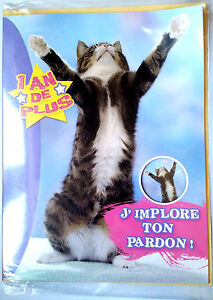 Grande Carte Humoristique Joyeux Anniversaire En Retard 29 X 30