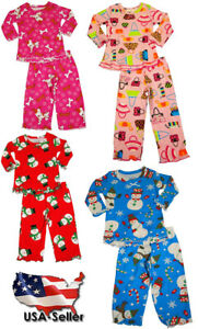 0e5673835ae8 Details about Sara s Prints Baby Infant Girls 2 Piece Long Sleeve Sleepwear  Pajama Set