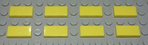 816 Lego Fliese Kachel 1x2 Gelb 8 Stück