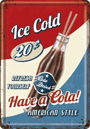 Nostalgic Art Blechpostkarte Ice Cold Have Cola American Style Refresh Yourself